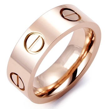 $19.99 Rose Gold Plated Designer Inspired LOVE Ring (With