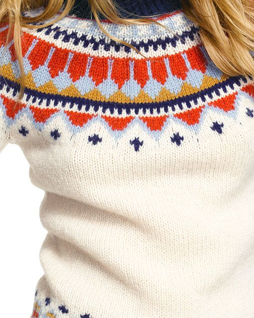 Handknit Fair Isle Sweater: SWEATERS | Free Shipping at L.L.Bean ...