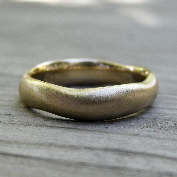 Organic Mens Wedding Band White Yellow Or Rose By Kristincoffin 950 00