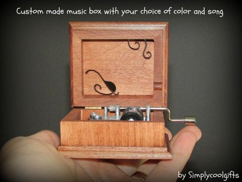 Music box, Personalized music box, musical box, wooden music box ...