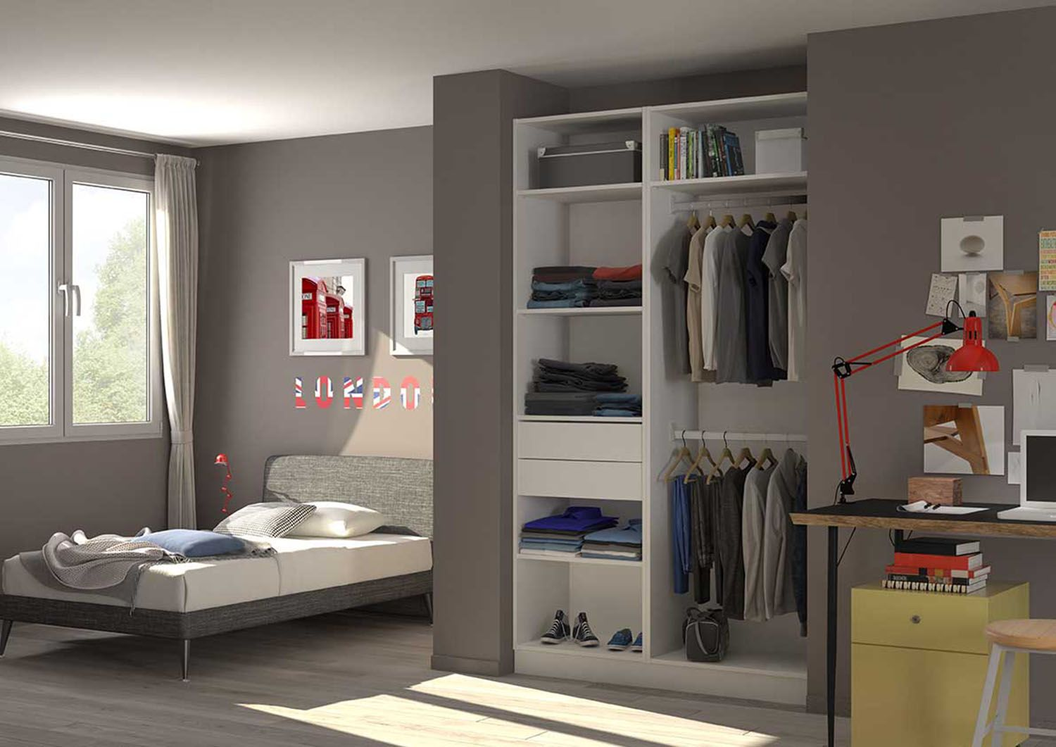 comment am nager le placard de votre enfant un dressing. Black Bedroom Furniture Sets. Home Design Ideas