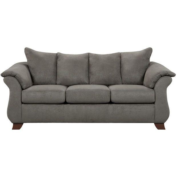 Exceptional Designs Sensations Grey Microfiber Sofa ...