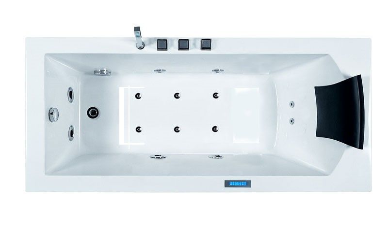 Aston Mt601 L 5 6 Ft Whirlpool Tub In White With Left Drain Grey