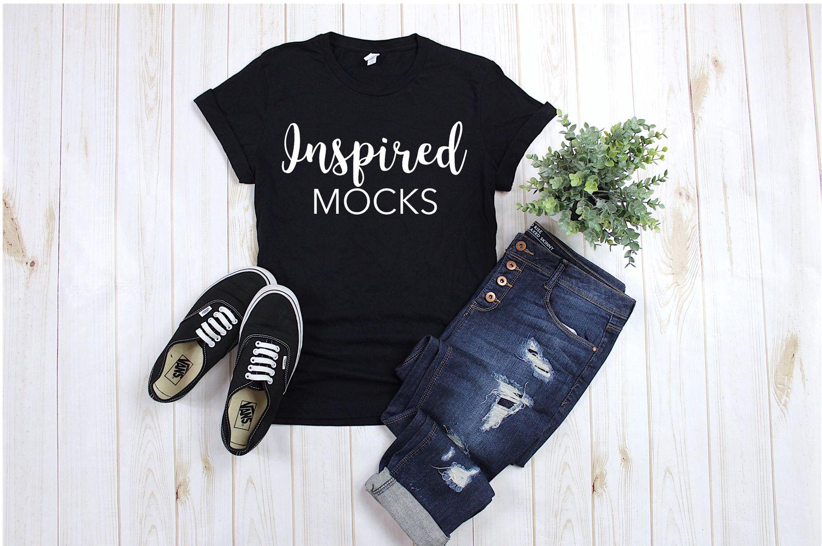 Download Bella Canvas 3001 Black Unisex T Shirt Mockup Shirt Mockup Flat Lay Mock Up Basic Mockup S Shakespeare Shirts Mom Shirts T Shirt Printer