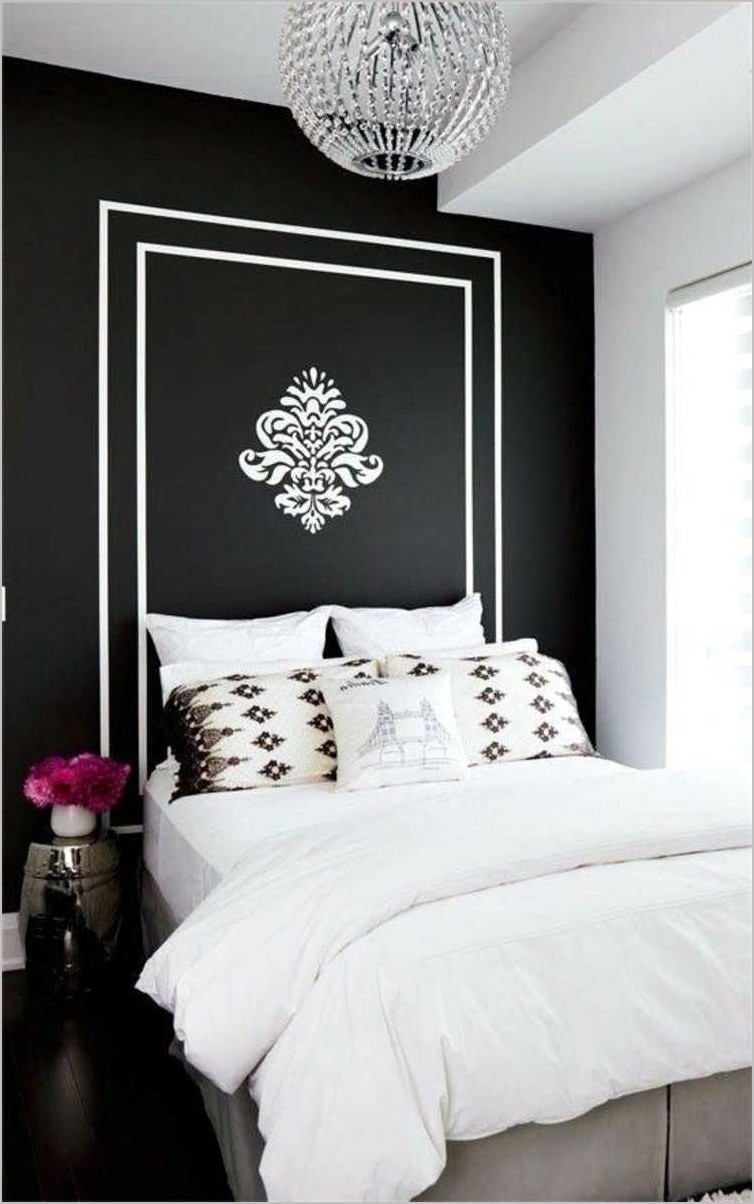 Deco Chambre Noir Blanc Or In 2020 Small Room Bedroom White