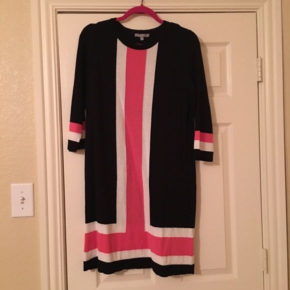 ⬇️Long sleeve dress NY Collection Sz L color block type sweater dress NY Collection Dresses Long Sleeve