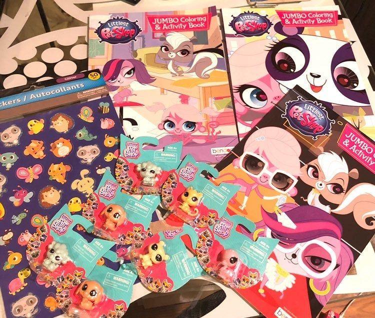 11 Piece Littlest Pet Shop Bundle Set Includes 3 Jumbo Coloring
