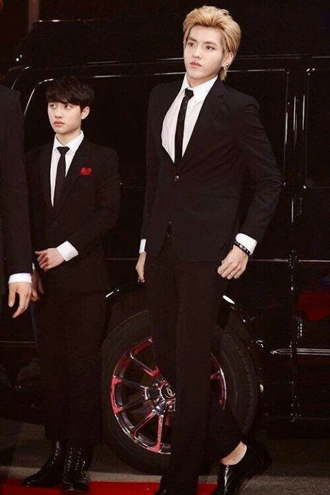 OMO! Am I blind or is D.O. either really small or is Kris just really big. (Or both?)