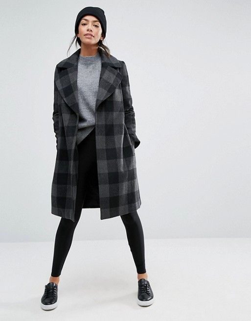 New Look | New Look Check Smart Coat