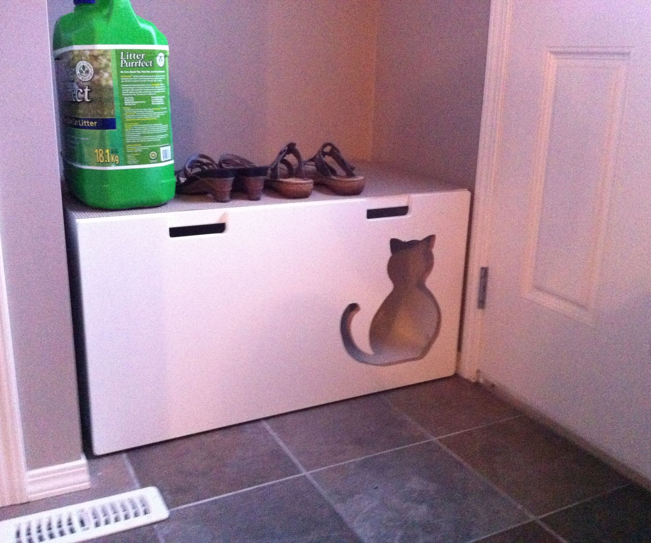 Cat Furniture · I Needed A Kitty Litter Box For My Home That Would Hide The  Kitty Litter But
