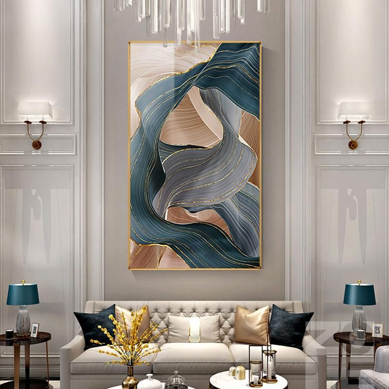Luxury Ribbon Abstract Canvas Painting