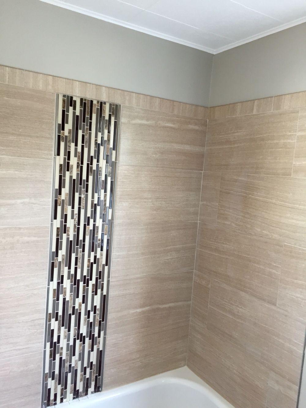 Leonia Sand Bathroom Tub Surround 12x24 Bathroom Tub Surround
