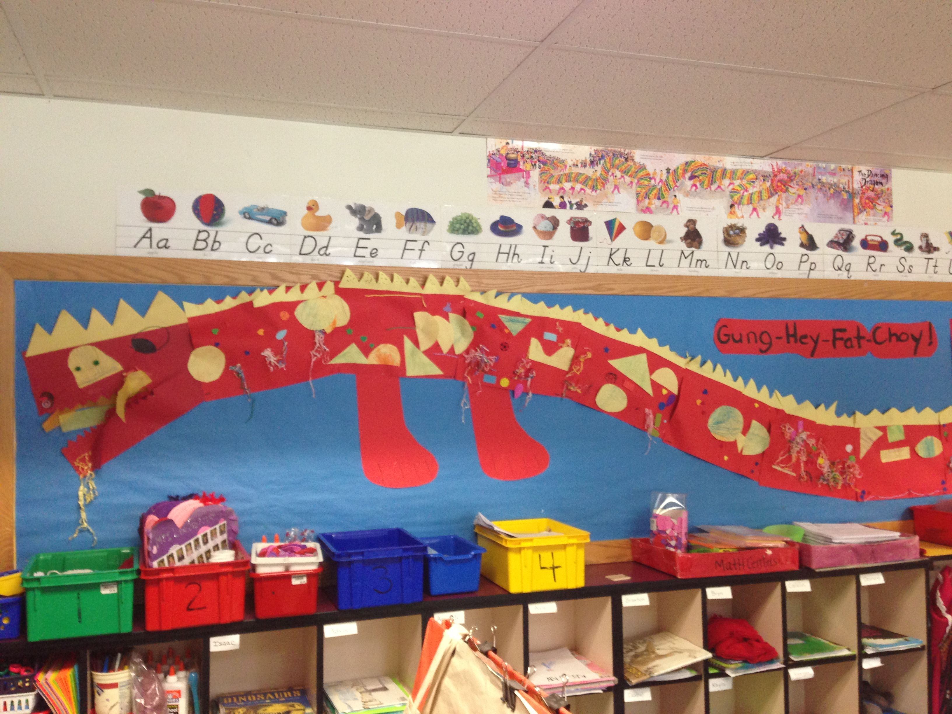 Chinese New Year Bulletin Board - each kid decorates a ...
