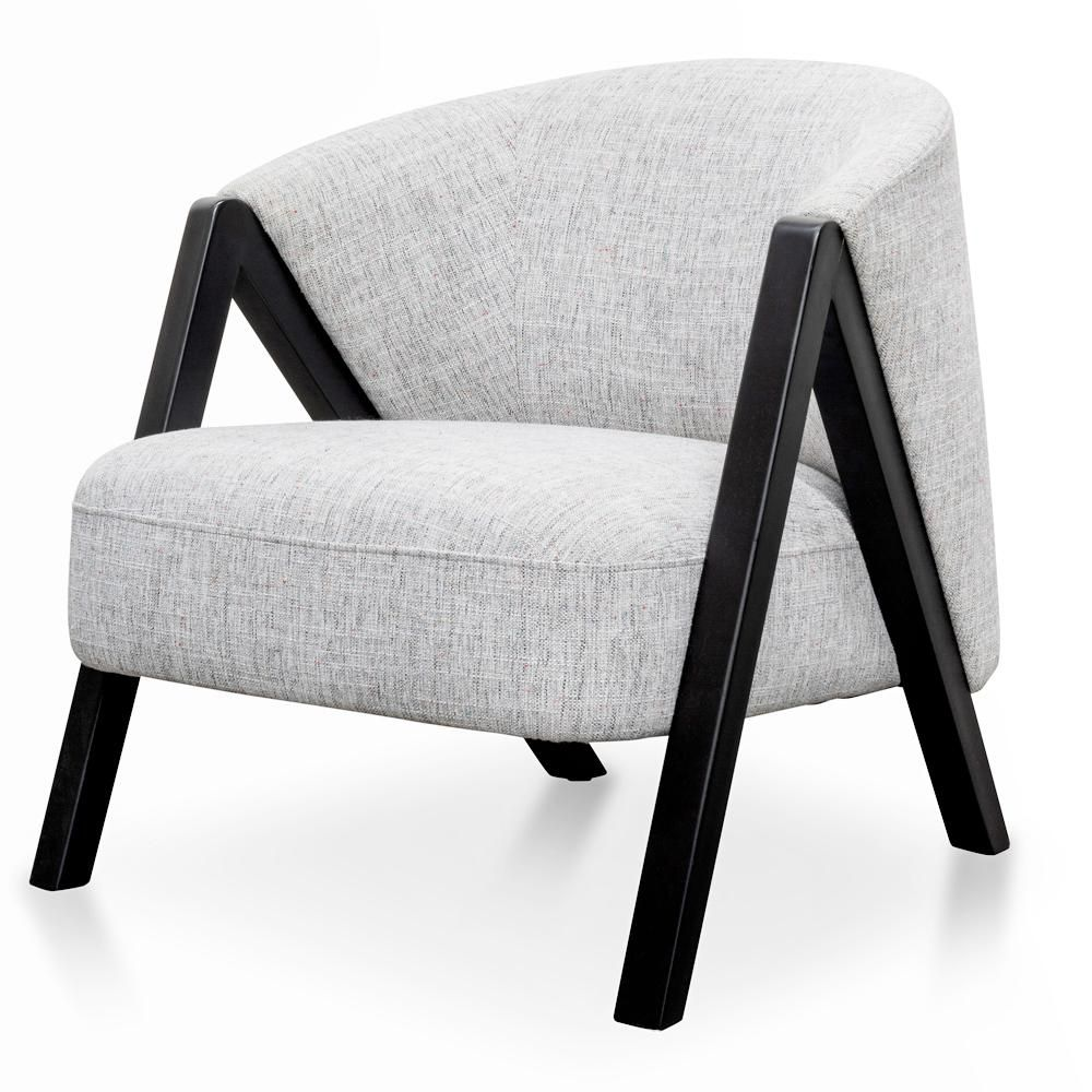 Freddie Armchair Light Spec Grey Black Oak In 2020 Stylish