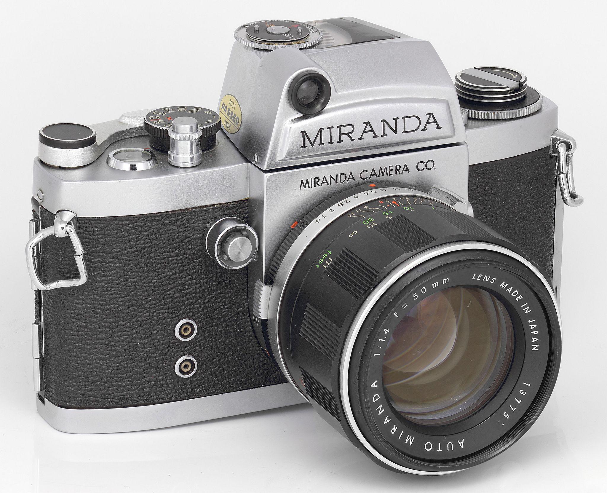 Miranda FM Camera (S/N 698xxx) -- 1963-19??-- AUTO MIRANDA 1:1.4  f = 50mm
