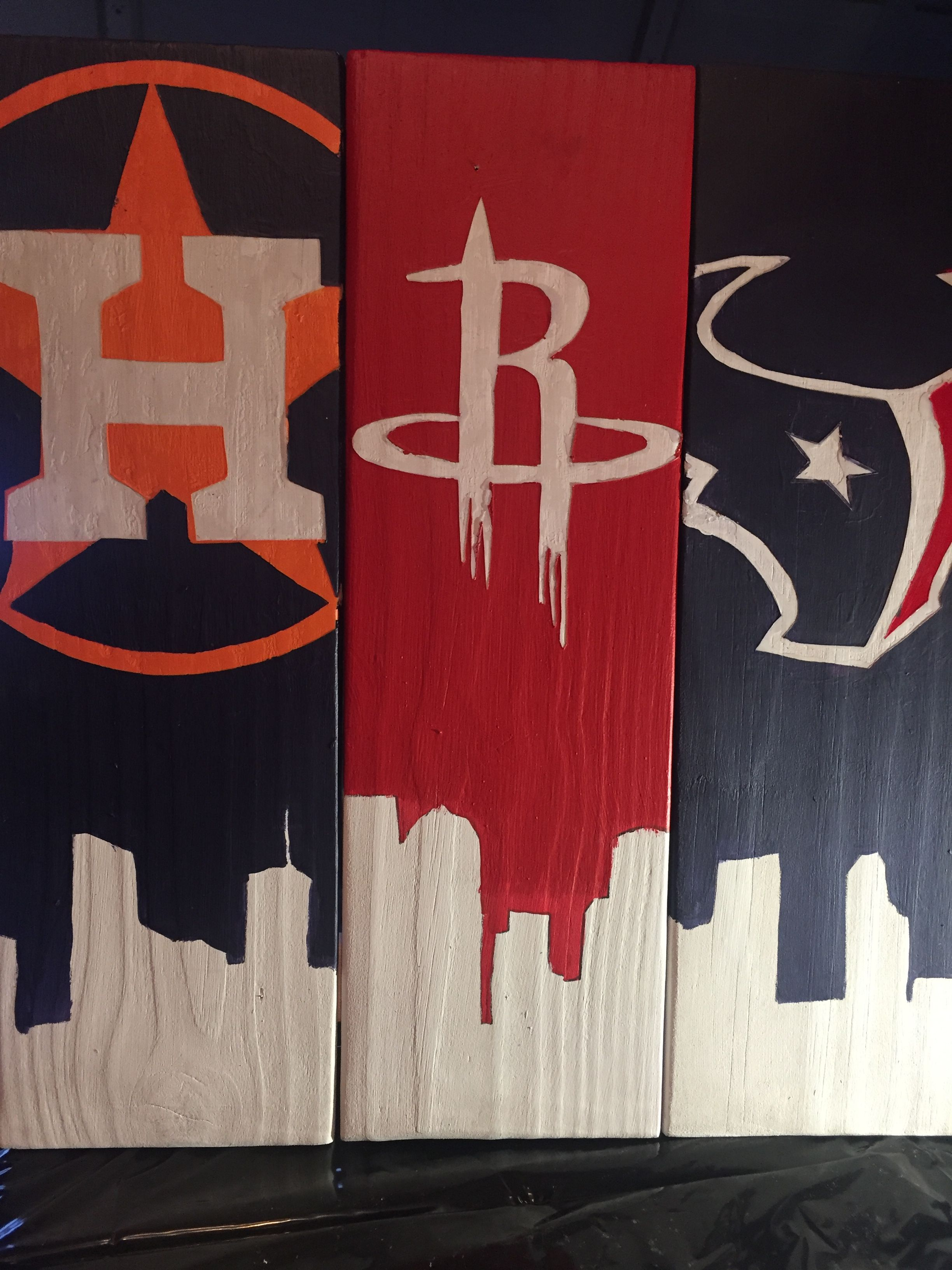 Houston Astros Rockets Amp Texans Pallet Sign Completed