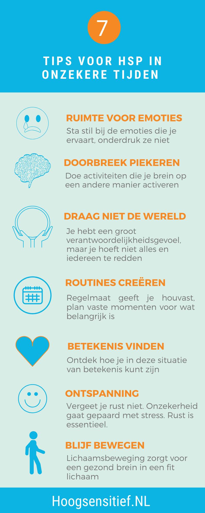 7 tips voor HSP in onzekere tijden ⋆ Hoogsensitief.NL