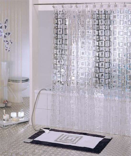 Curtains For Bathroom Door Ideas About Shower Makeover Modern ...