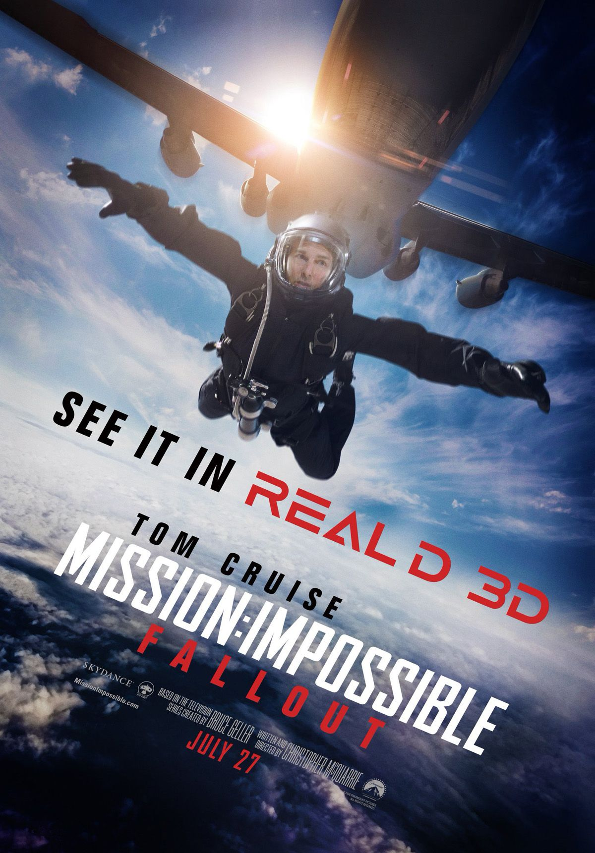 Tom Cruise Jumps Out Of A Plane In M I Fallout Reald Poster Com
