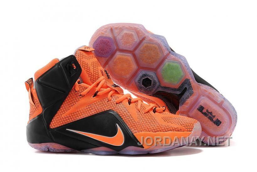 d83bf2634f1c4 https   www.jordanay.net nike-lebron-12-custom-orange-and-black ...
