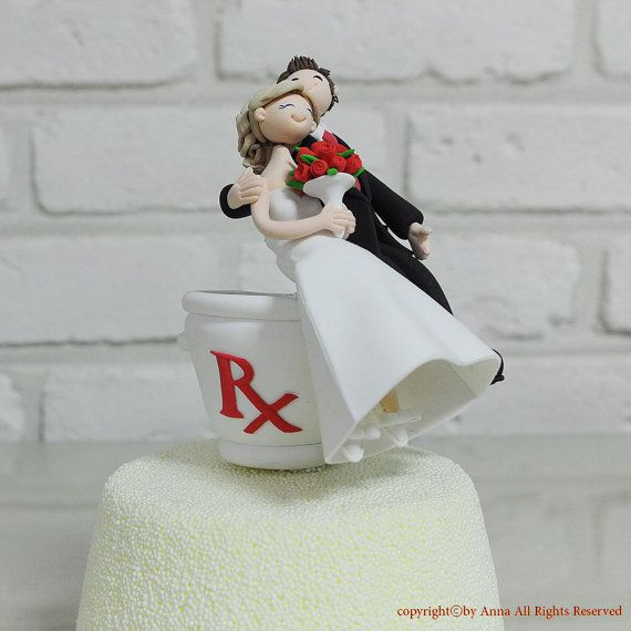 Wedding Gifts Sydney: Pharmacist Custom Wedding Cake Topper Gift