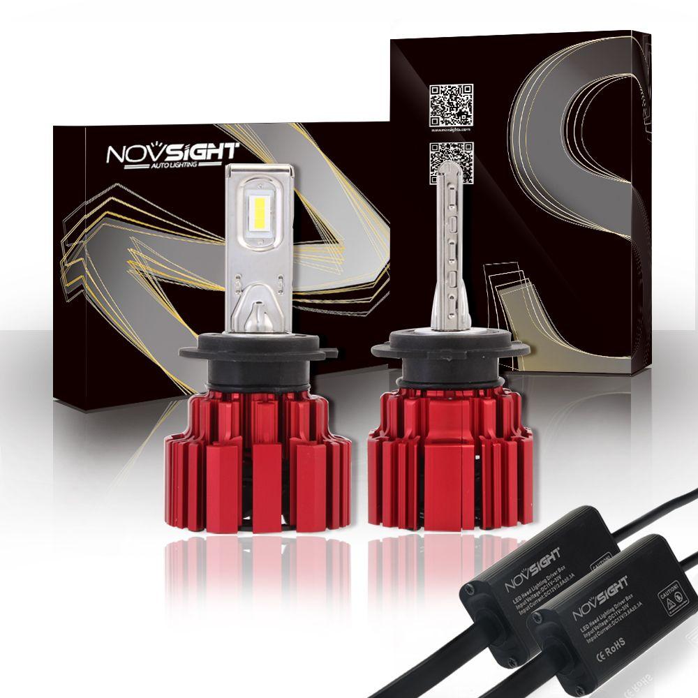 NOVSIGHT 2x PSX26W LED Headlight Kit Replace Halogen Bulb White Beam 1:1 DESIGN