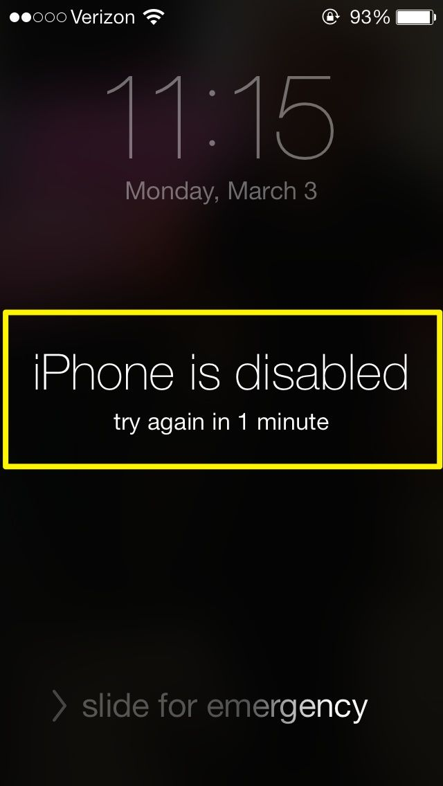 How to unlock an iphone that has been disabled