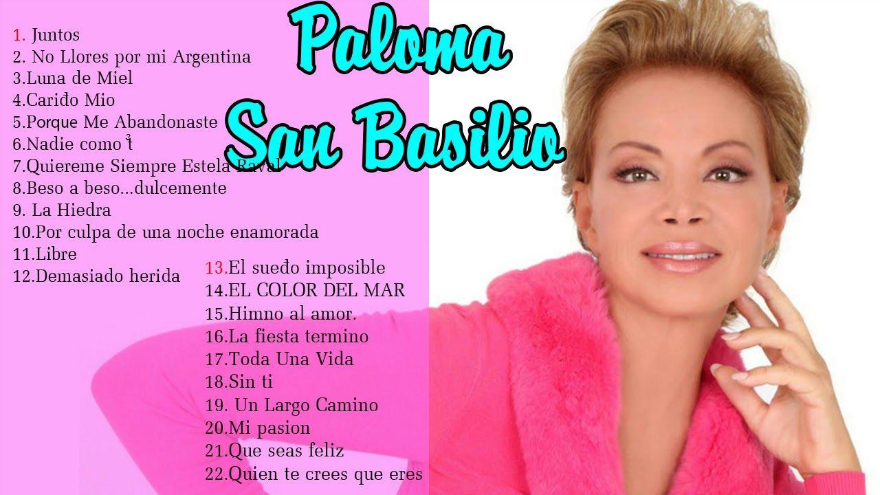 Paloma San Basilio Grandes Exitos Paloma San Basilio Grandes éxitos Youtube Paloma San