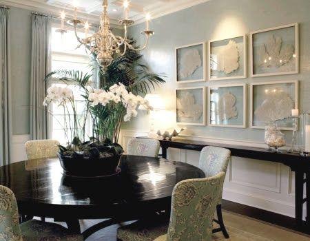 Beautiful Orchid Centerpiece Speisezimmereinrichtung Esszimmer Wände Elegante Abendessen