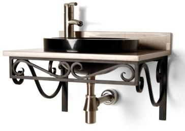 small cantilevered scroll shelf | bathroom decor, bathroom