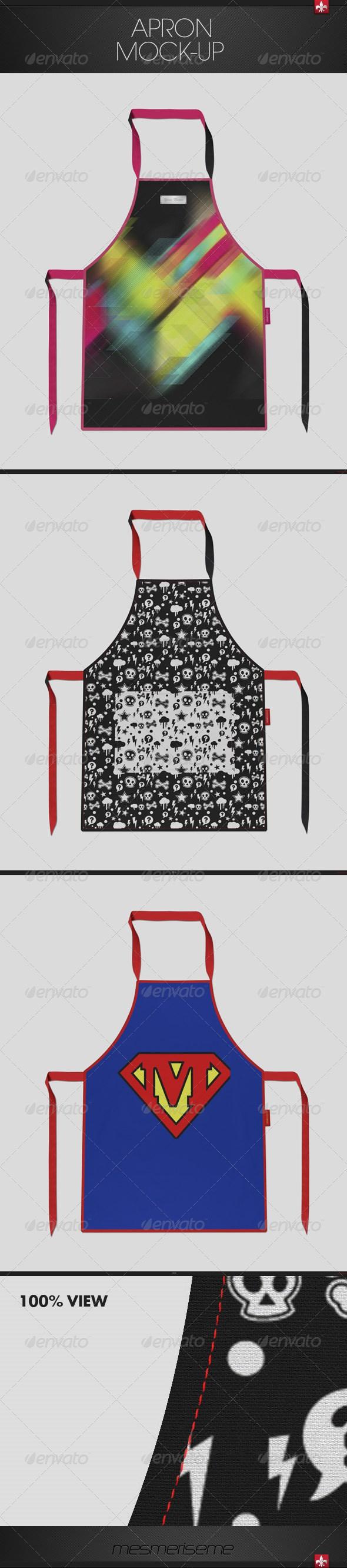 White apron mockup free - Apron Mock Up