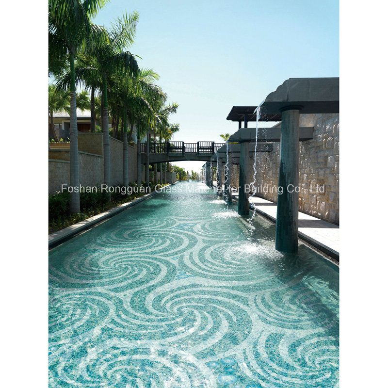 China Glass Tile In Art Pattern For Swimming Pool Mosaic Photos