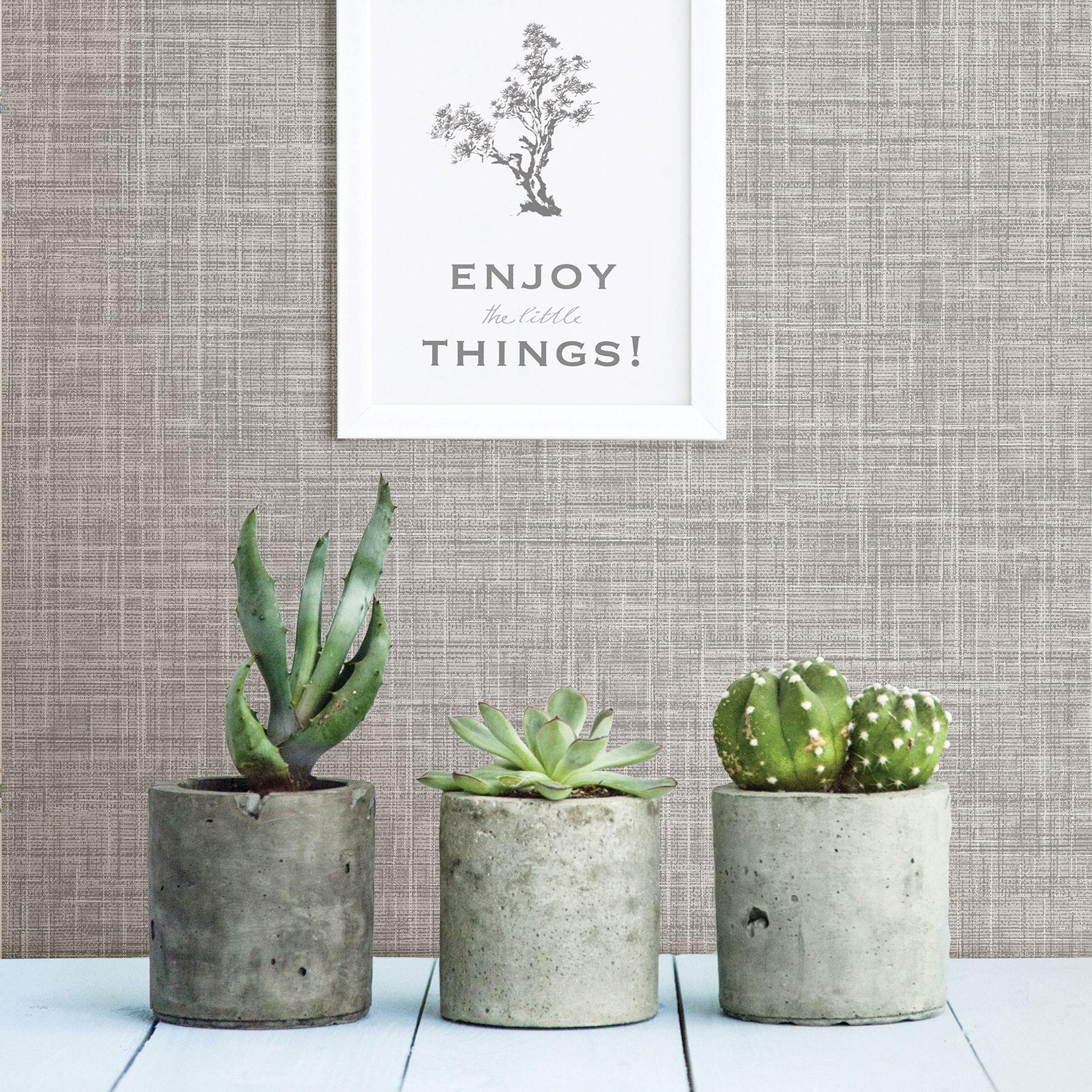 Mendocino Grey Linen Wallpaper Linen Wallpaper Grasscloth Wallpaper Embossed Wallpaper