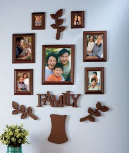family tree frame set 12 pieces brown