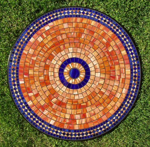 Table Mosaic Patterns: Mosaic Tile Table Pattern- For The Patio. Cobalt Blue And