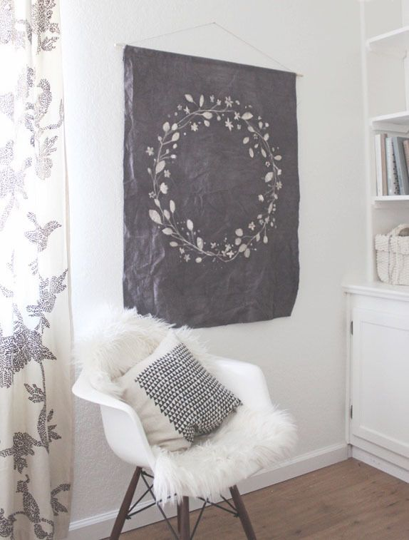 Check out these ten ideas for large canvas drop cloth art
