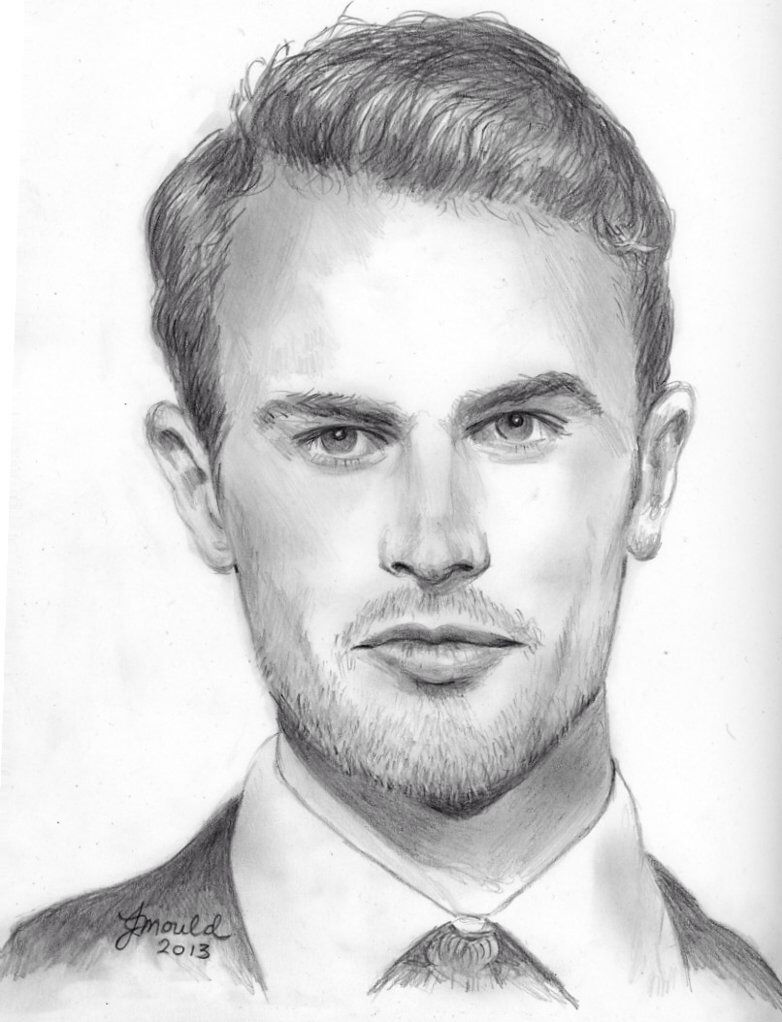 Theo james drawing theo james divergent pencil drawings graphite drawings pencil art