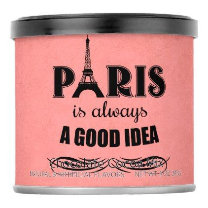 Paris is always a good idea hot chocolate drink mix