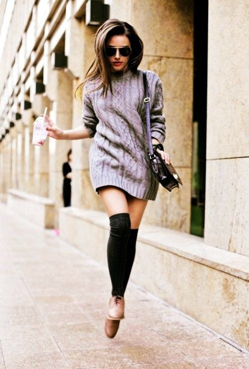 Long Sleeve Cable Knit Sweater Dress - Short Cable Knit Sweater ...