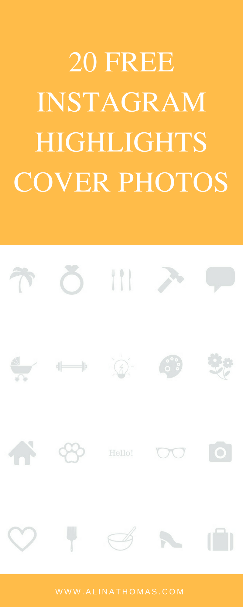 How To Create Instagram Highlight Cover Photos | Pinterest | Free ...