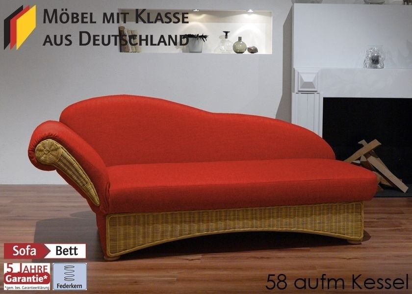 Schlafsofa Bettsofa Couch Rattan Rost Rot 3129 Buy now at   - rauch schlafzimmer ricarda