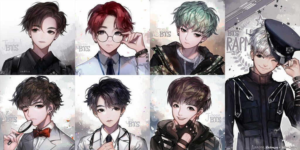 BTS Cartoon Photos [Fanart] Bts chibi, Bts drawings, Anime