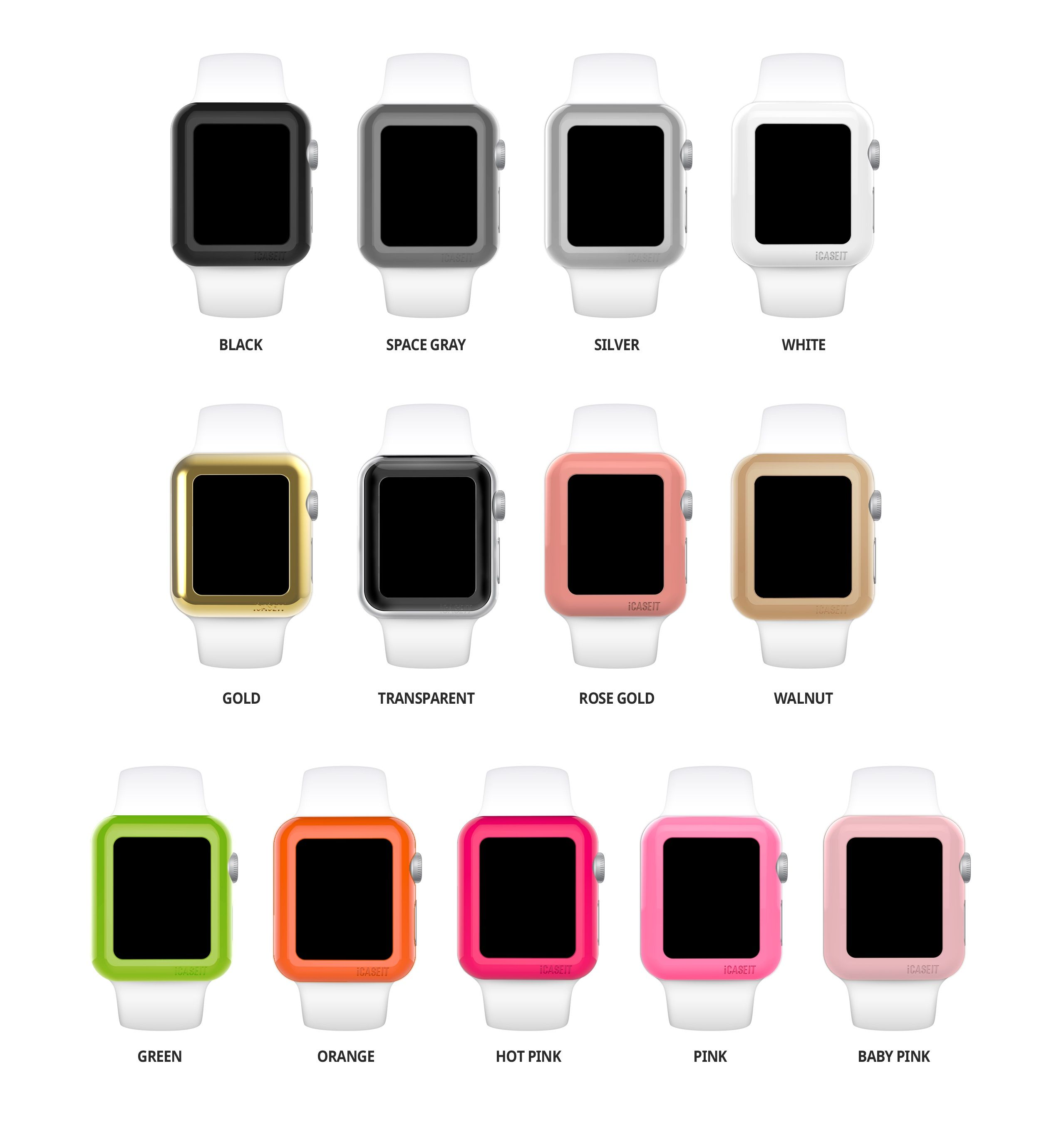 Apple Watch Case Glass 38mm Pack Of 3 Gold Rose Gold Walnut Apple Watch Case Apple Watch Accessories Apple Watch Edition