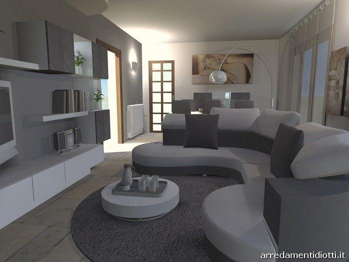 oltre 25 fantastiche idee su divano curvo su pinterest | design ... - Soggiorno Moderno Con Tavolo E Divano
