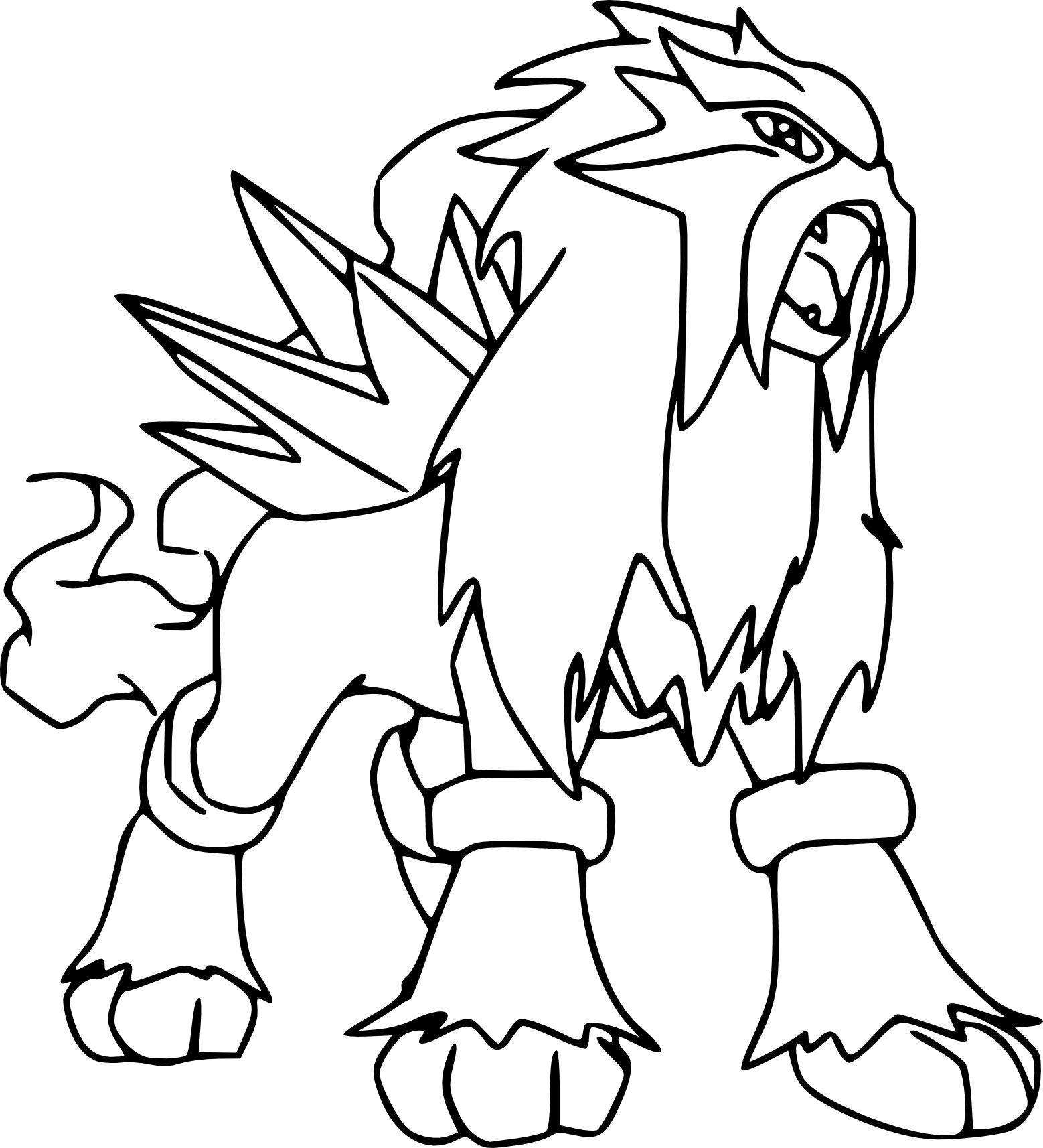 Pokemon Ausmalbilder Entei : Coloriage Pokemon Colorier Dessin Imprimer Pokemon