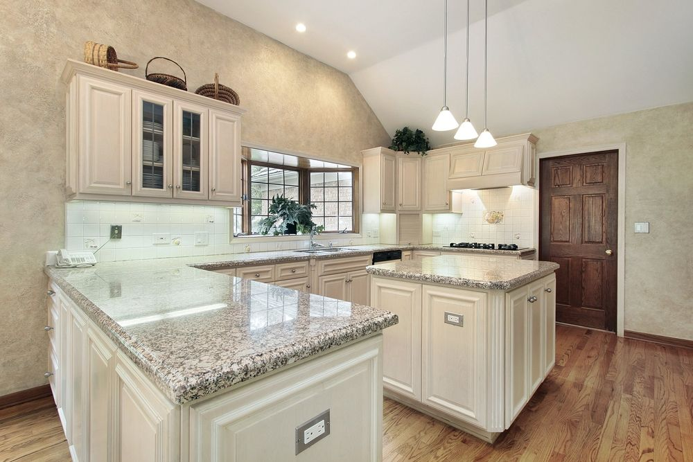"White Kitchen Light Granite 31 ""new"" custom white kitchens with wood islands 