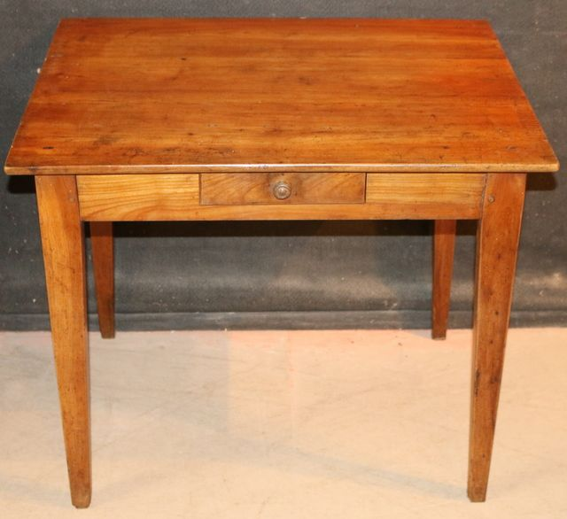 French Lamp Table 19thc Cherry Wood 1880