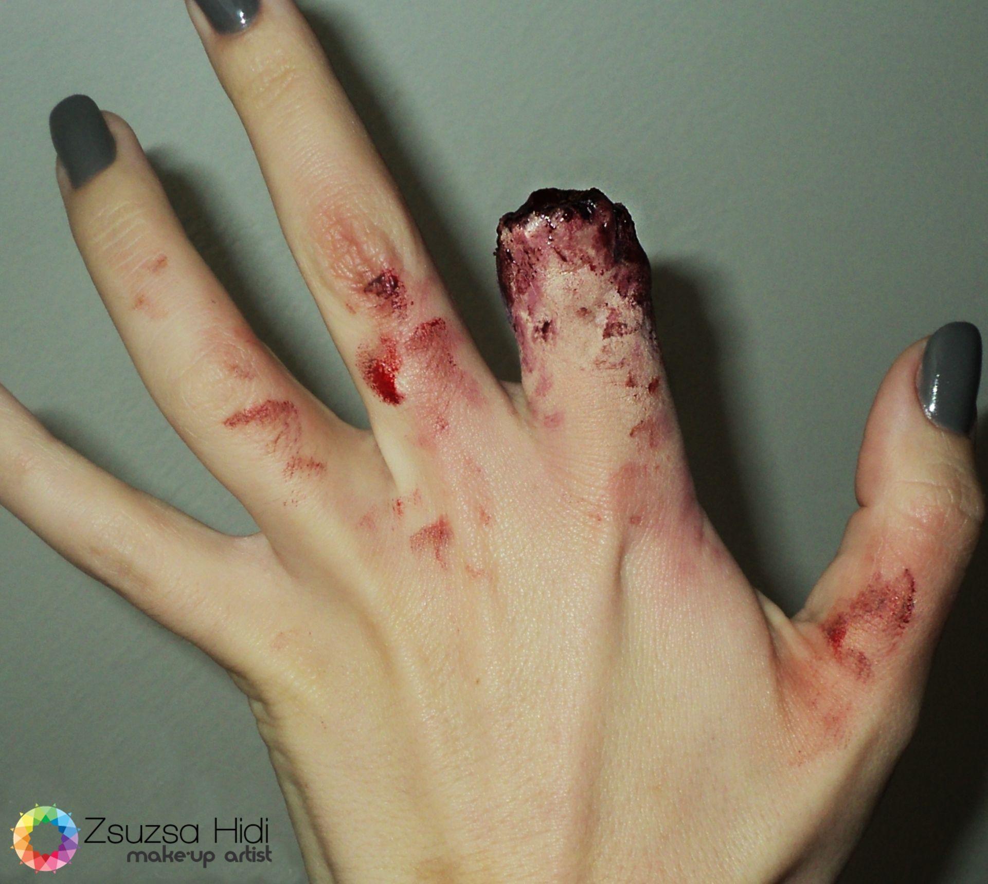 sfx makeup cut finger special effects | My work(Makeup ...