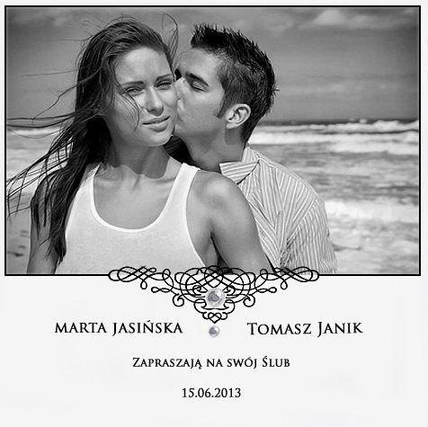Najpiękniejsze Zaproszenia ślubne Ze Zdjęciem Mój Idealny ślub