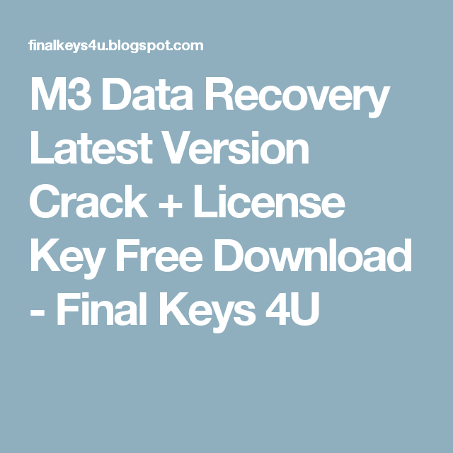 m3 raw drive recovery 5.3 crack plus license key